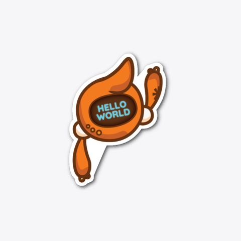 Kit - Hello, World - Asterisk Mascot sticker example